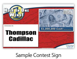 Picture of Shootout Contest Sign :: Foresite Sports, Leaders in Hole In One Insurance