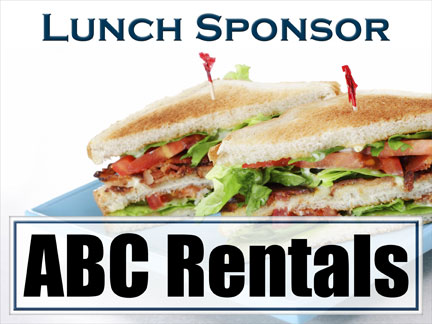 Example of Lunch Sponsor Sign :: Hole In One Insurance
