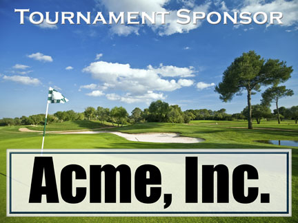 Illustration of Golf Tournament Sponsor Sign :: Hole In One Contest